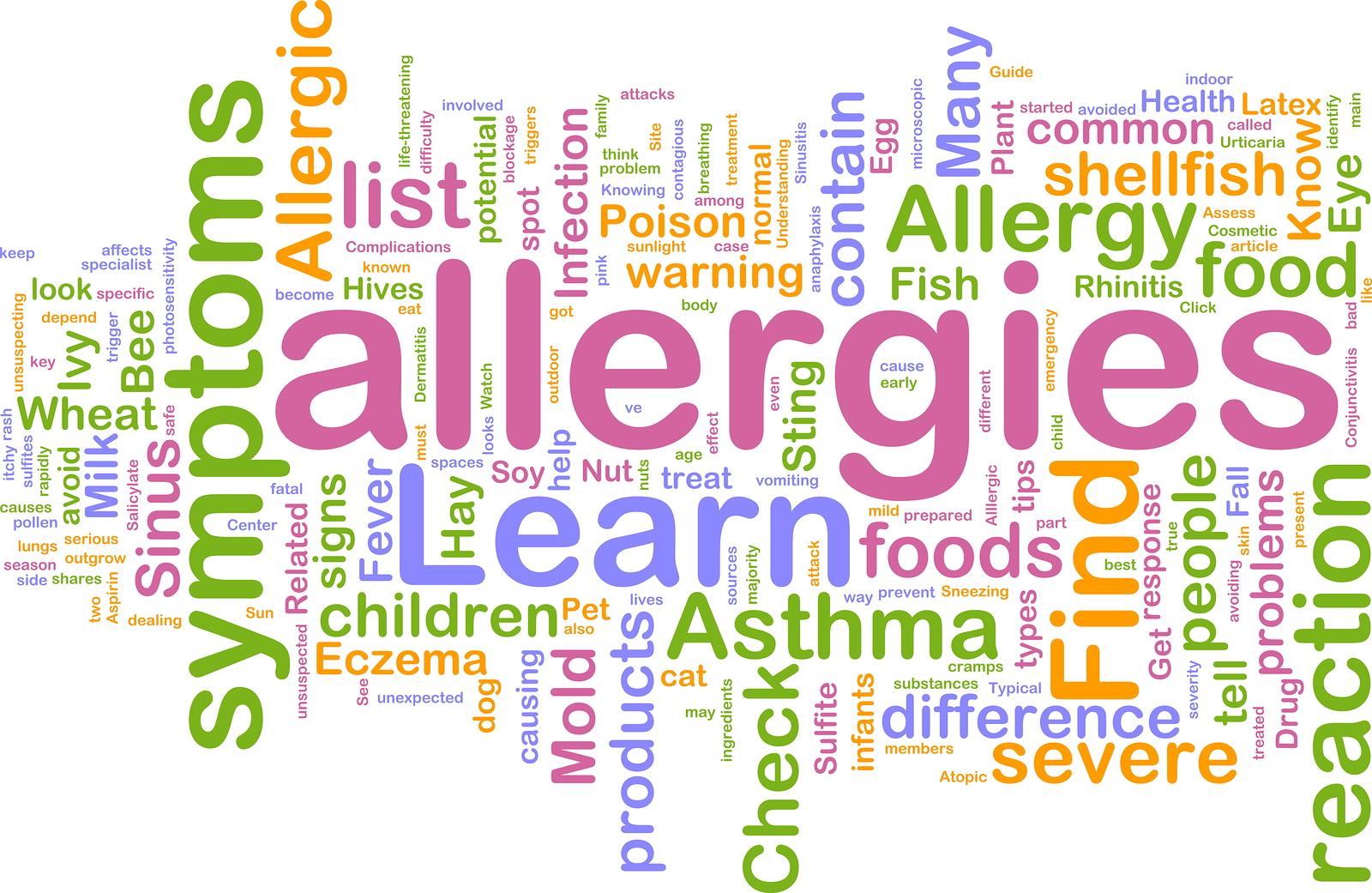 Food Allergies,  Food Sensitivities, Food Intolerances